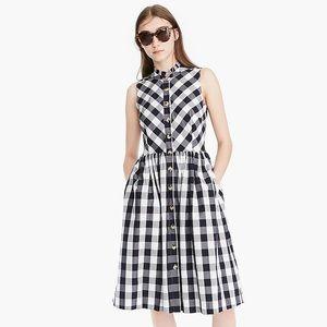 J. Crew Sleeveless Button-up Gingham Dress 6
